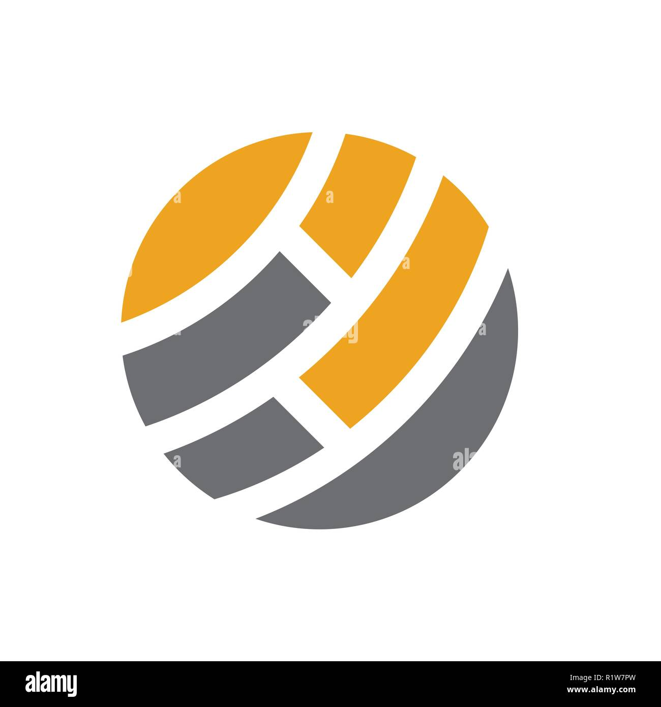 Global Abstract Logo Design - Stock Image