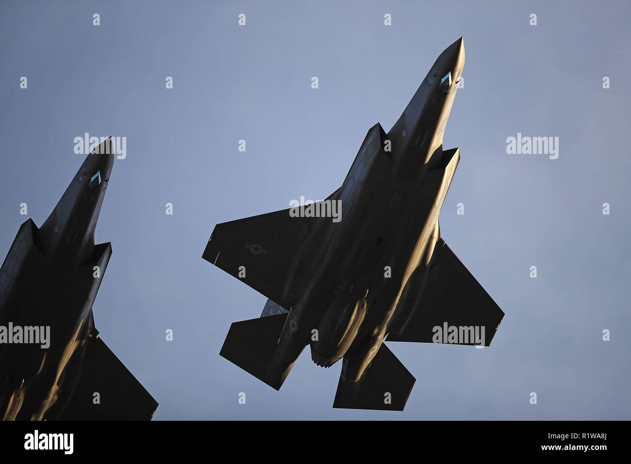 F-35A jets from the 31st Test evaluation squadron at Edwards Air Force Base Stock Photo