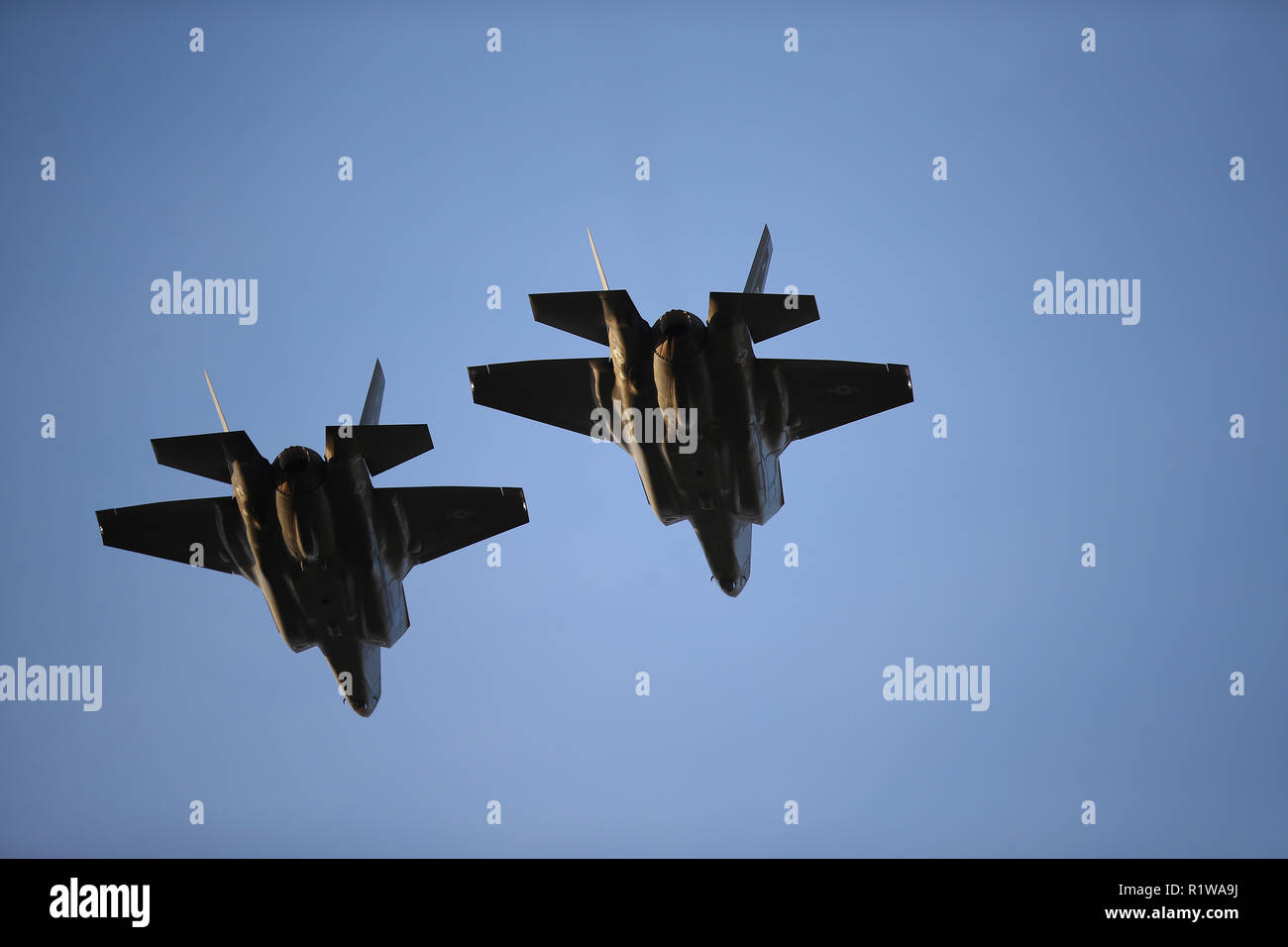 F-35A jets from the 31st Test evaluation squadron at Edwards Air Force Base - Stock Image