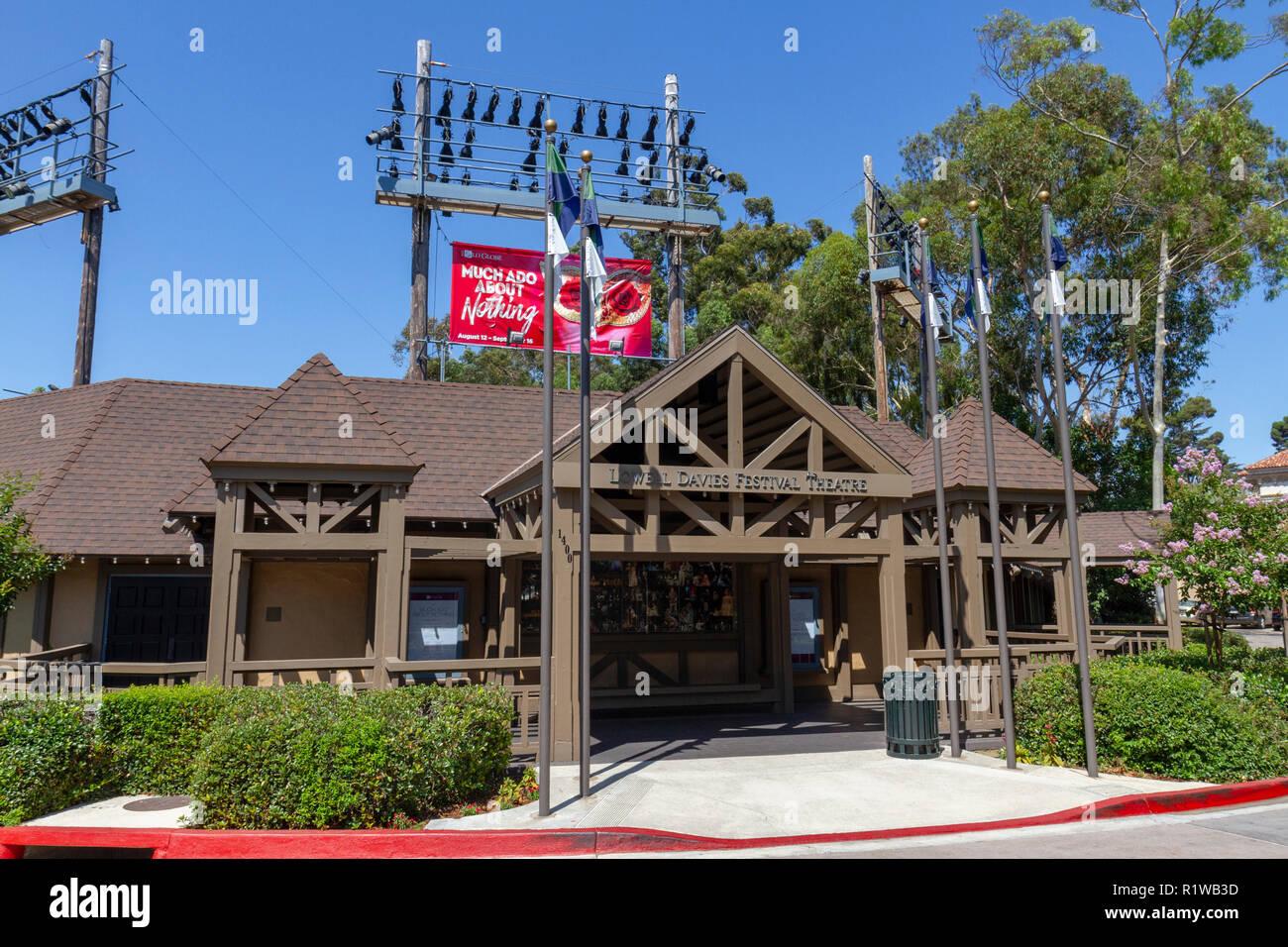 The Lowell Davis Festival Theatre in Balboa Park, San Diego, California, United States. - Stock Image