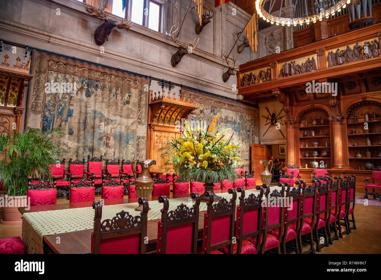 Interior Dining Room At Biltmore Estate Large Private Estate Built By George Vanderbilt Tourist Attraction In Asheville North Carolina Stock Photo Alamy