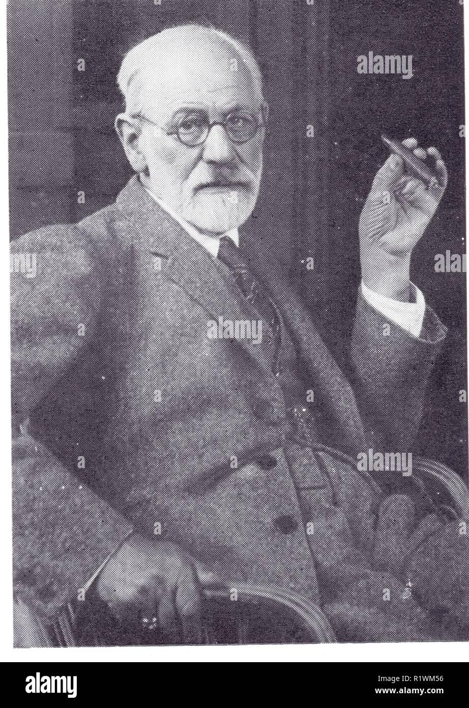 SIGMUND FREUD.1856-1939.PORTRAIT DE MAX HALBEESTADT - Stock Image