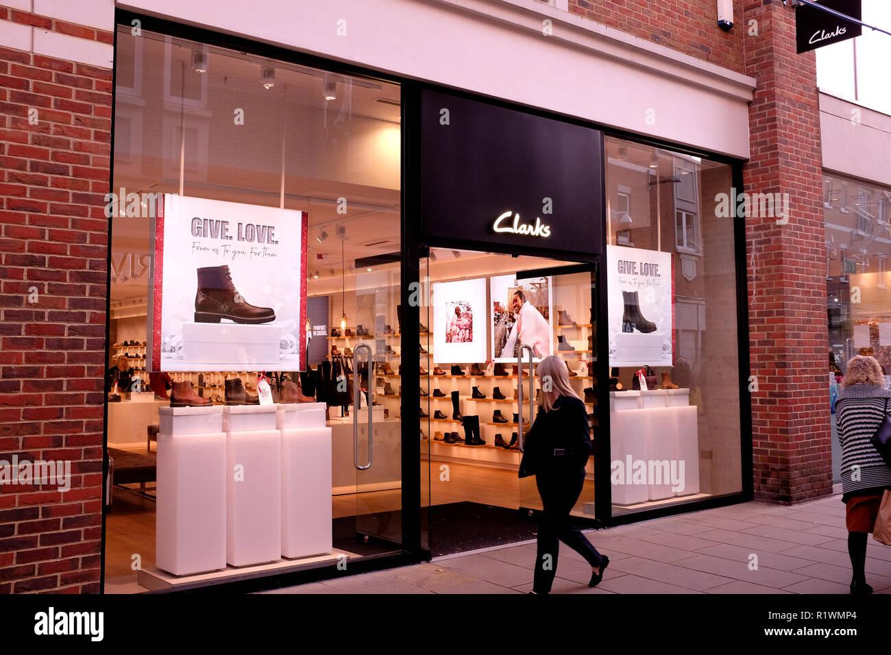 f95dc9f3e0b clarks retail shoe shop branch in canterbury kent uk november 2018 - Stock  Image
