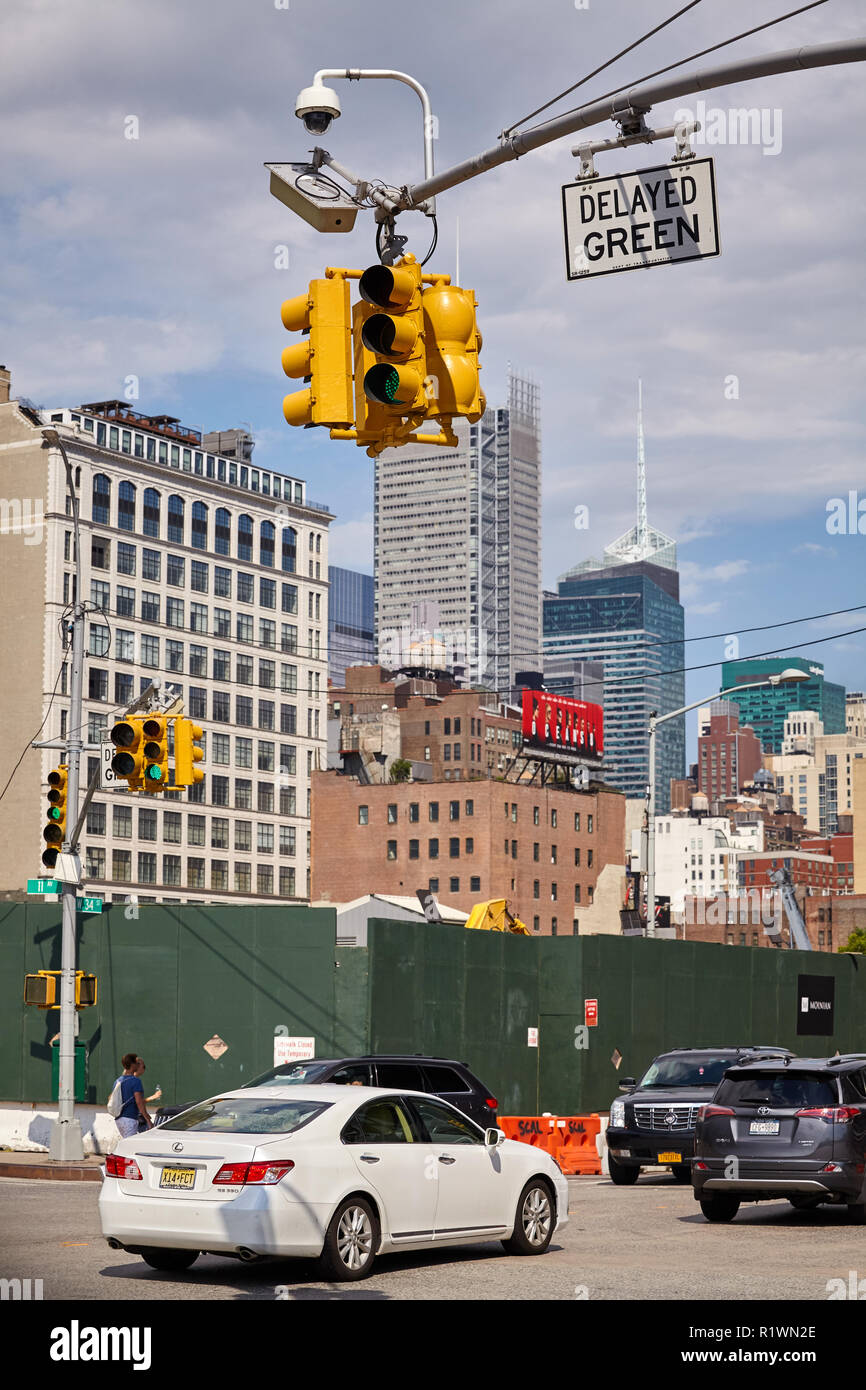 New York, USA - June 28, 2018: Busy street in downtown New York. - Stock Image