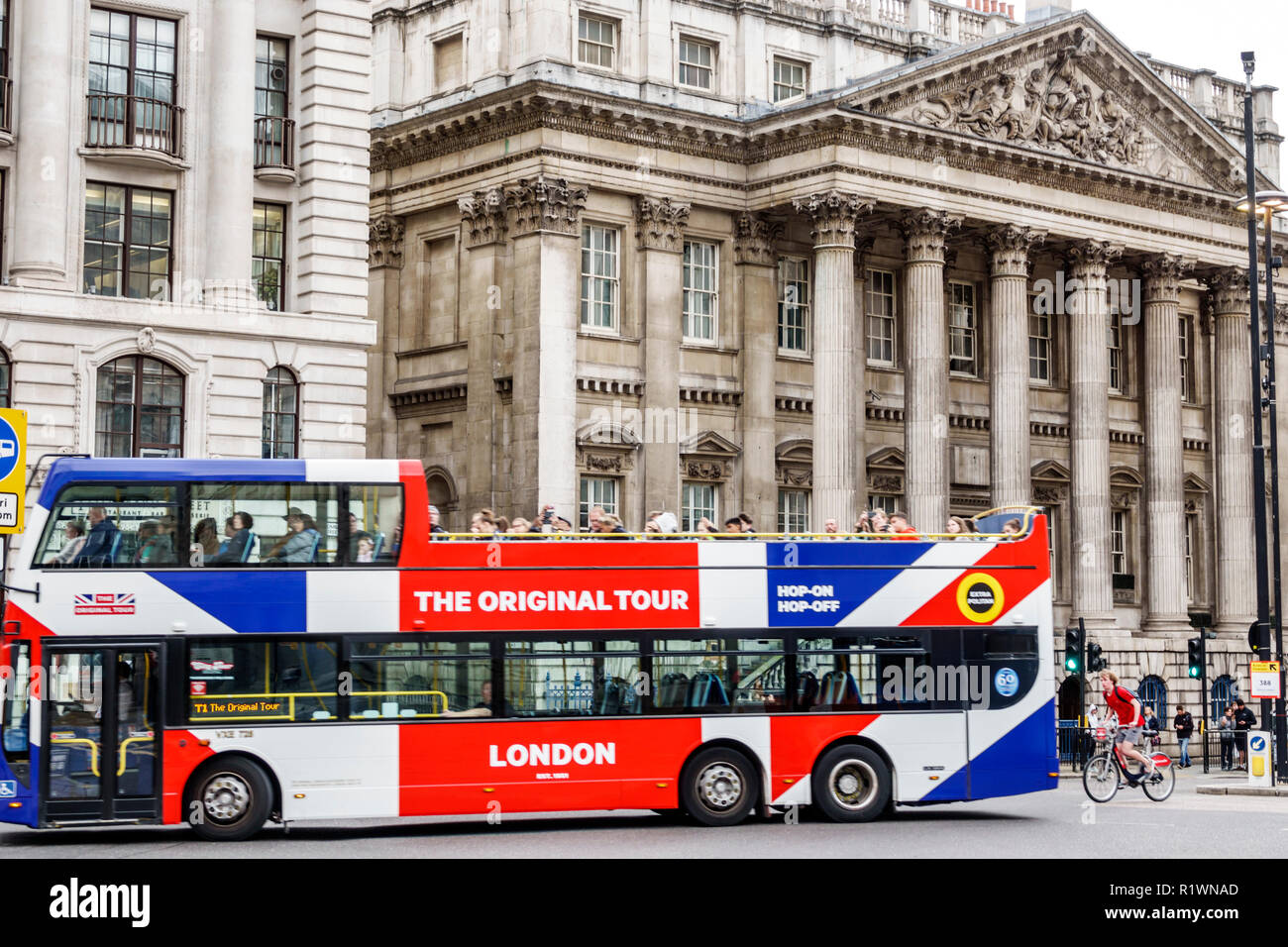 London England United Kingdom Great Britain City of London financial centre center Mansion House historic building London Mayor residence Palladian st - Stock Image