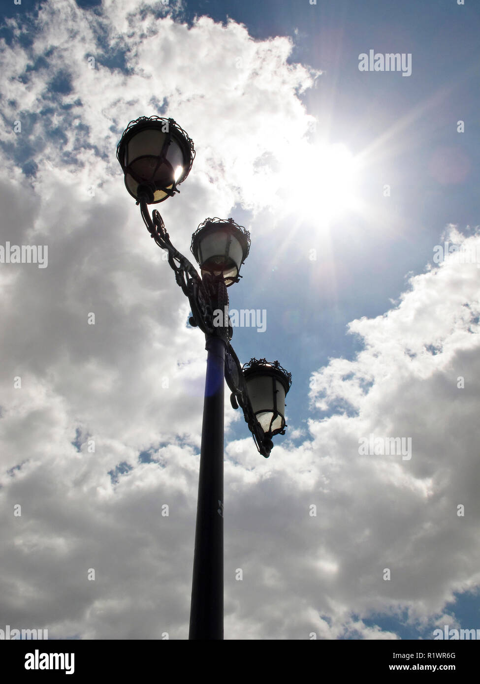 Streetlamp. Sevilla. Andalusia. Spain - Stock Image