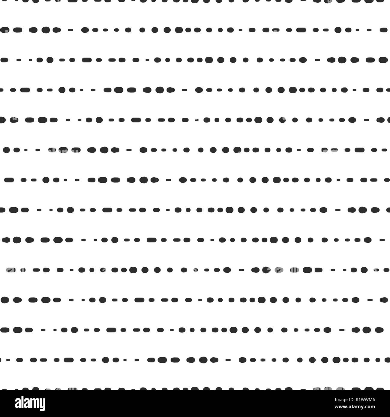 Dotted horizontal lines seamless vector background Stock