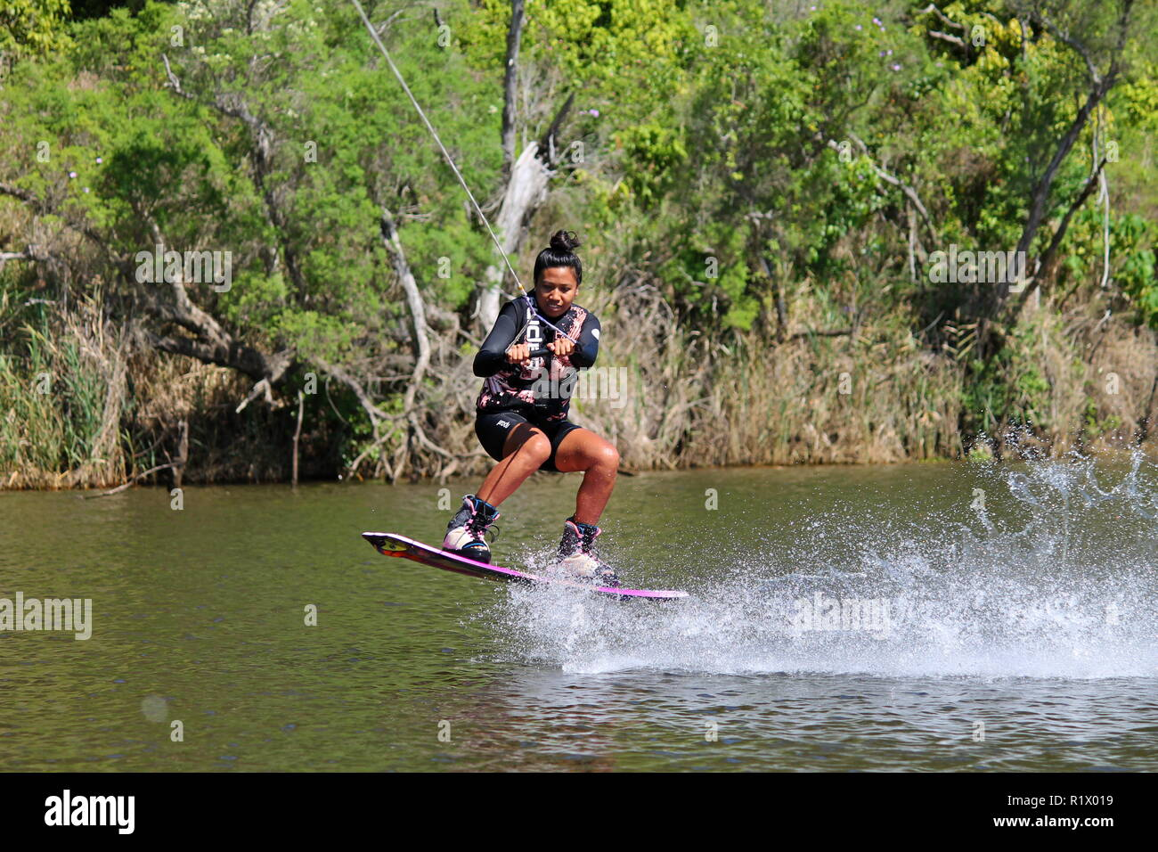 Water sports, Wakeboarding - Stock Image
