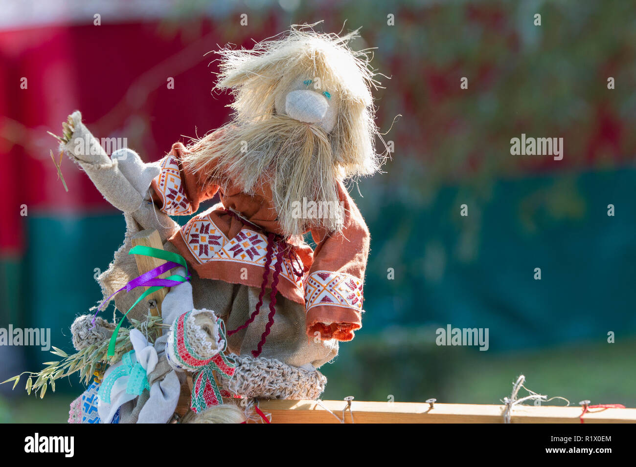 Ethnic national Slavic toy. Belarusian doll.Brownie - Stock Image