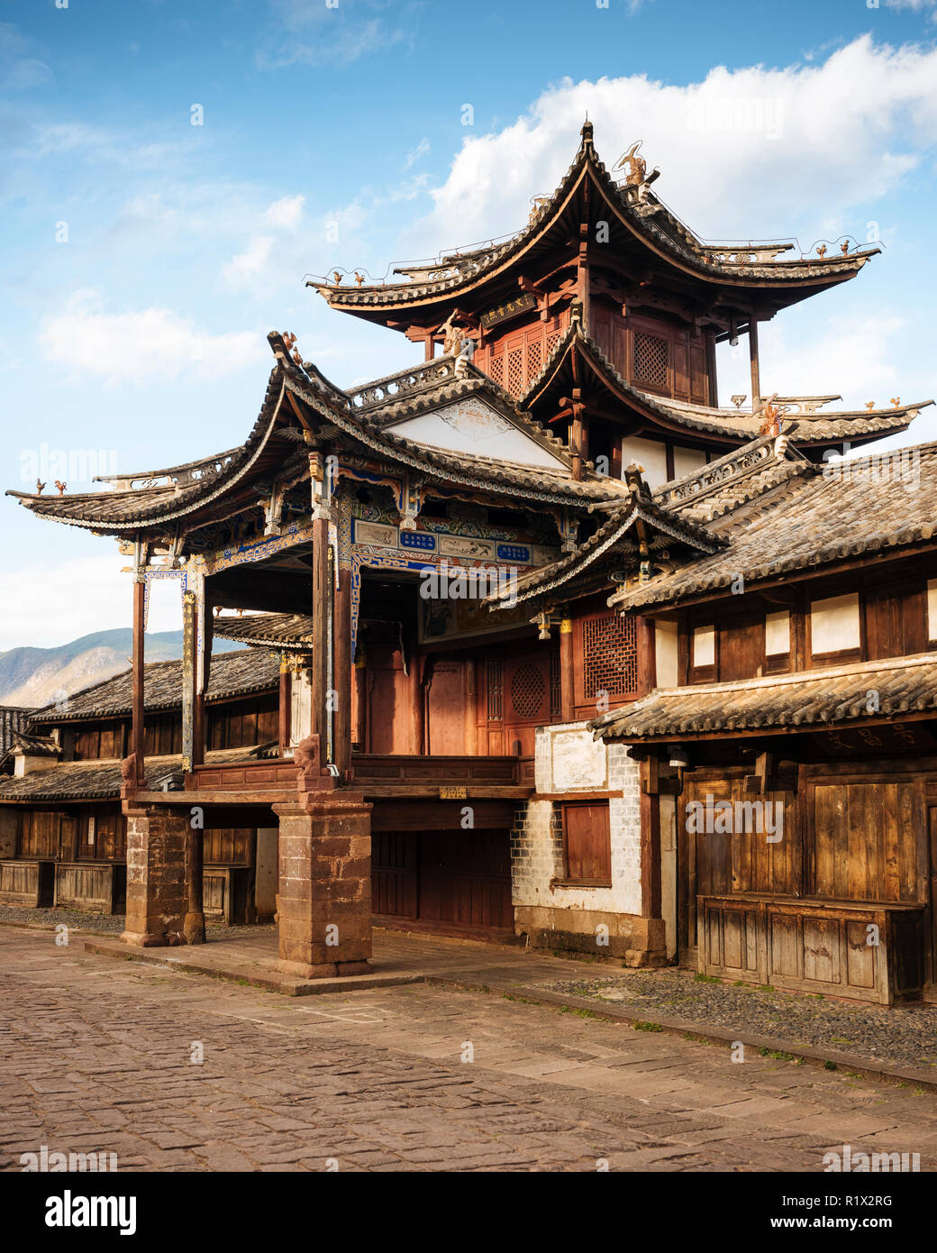 The Three Terraced Pavilion, Shaxi, Yunnan Province, China Stock Photo