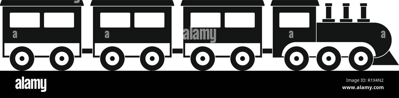 compartment train icon. Simple illustration of compartment train vector icon for web. Stock Vector