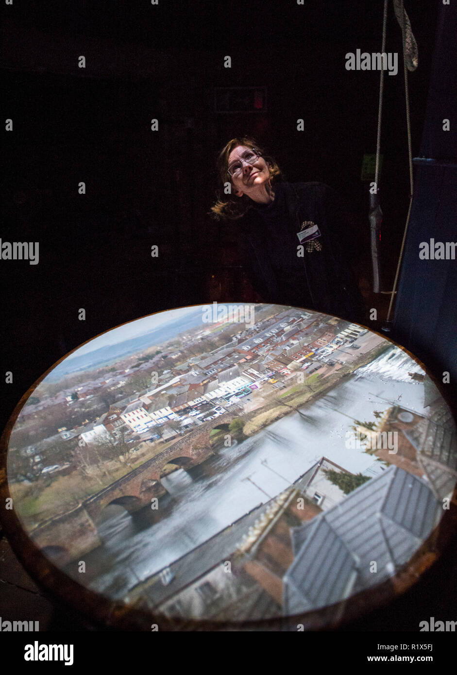 Dumfries & Galloway, Scotland. The Camera Obscura  (the world's oldest working Camera Obscura) which is housed in the Dumfries Museum. - Stock Image