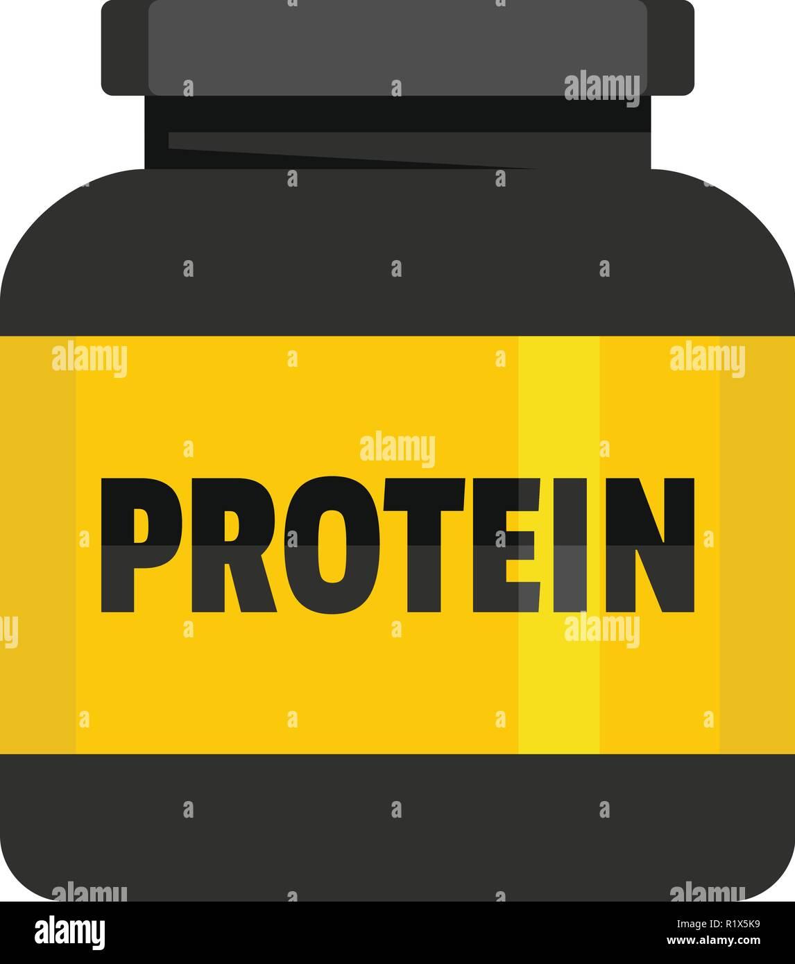 Kilogram protein icon. Flat illustration of kilogram protein vector icon for web. - Stock Image