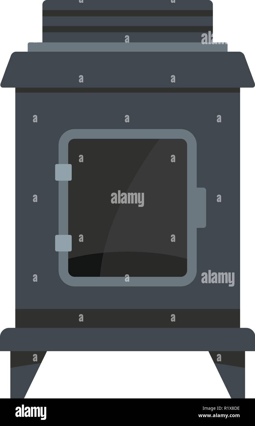 Old oven icon. Cartoon illustration of old oven vector icon for web - Stock Vector