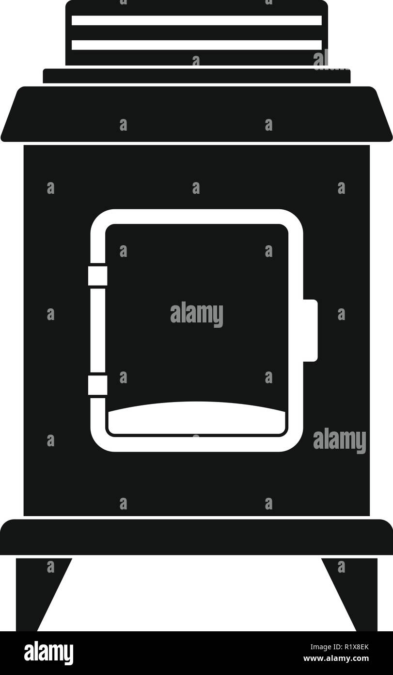 Old oven icon. Simple illustration of old oven vector icon for web - Stock Vector