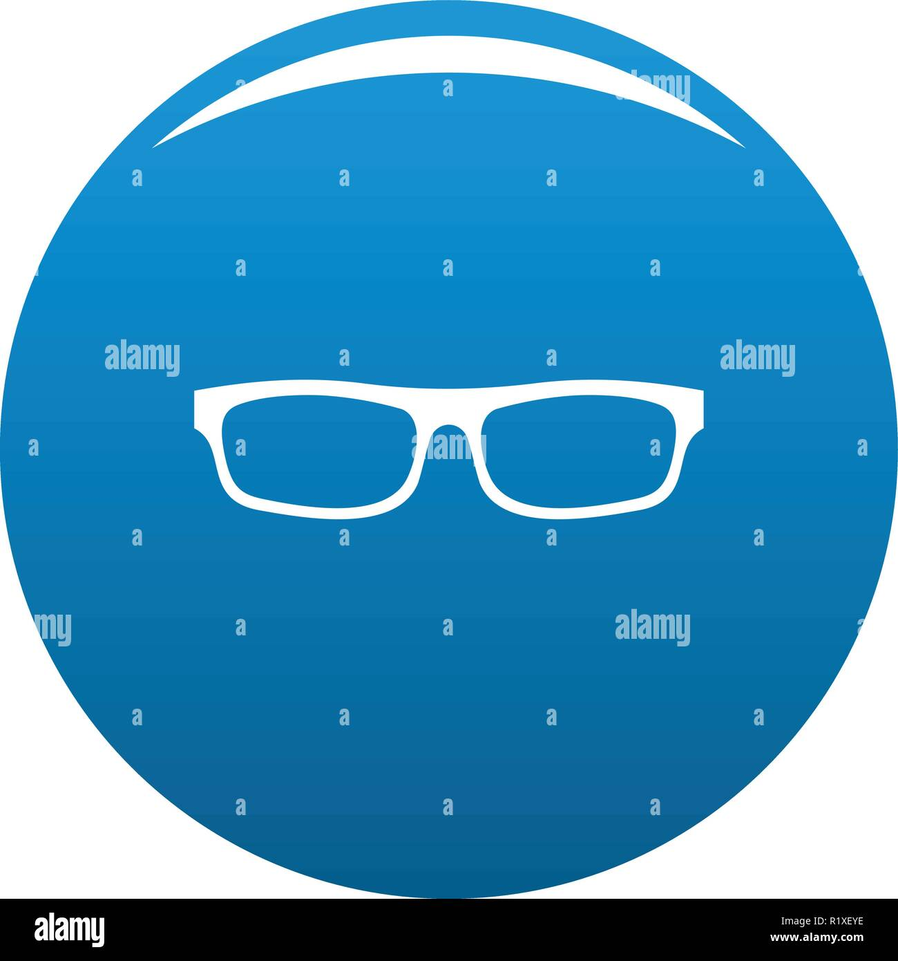 4d97cd0e27b4b Medical eyeglasses icon vector blue circle isolated on white background