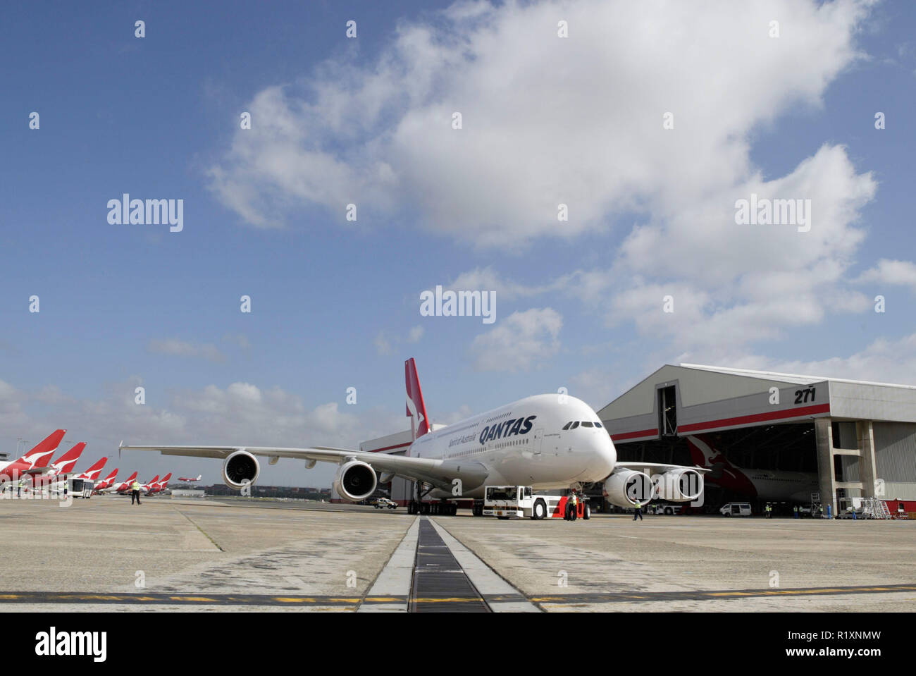 Qantas welcomes its first A380 jet to Australia  The
