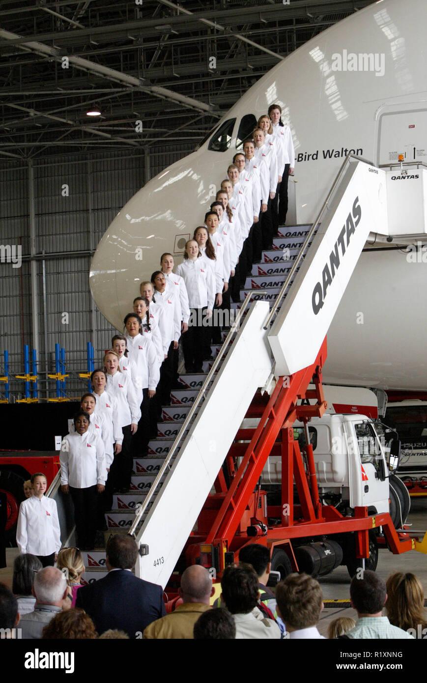 Qantas Australian Choir Stock Photos & Qantas Australian