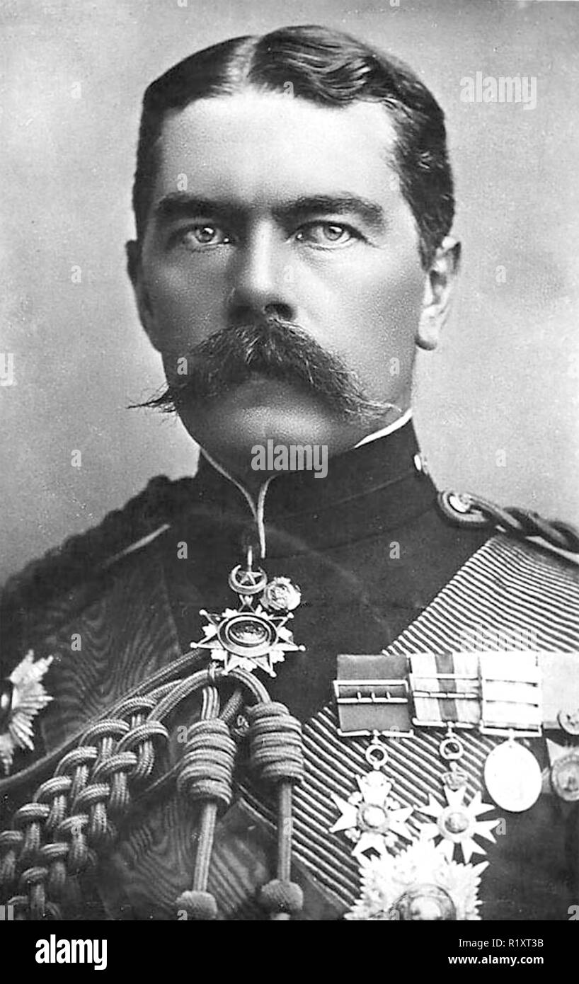 HERBERT KITCHENER, 1st EARL KITCHENER (1850-1916) British army officer  in 1896 as Sirdar of the Egyptian Army. - Stock Image