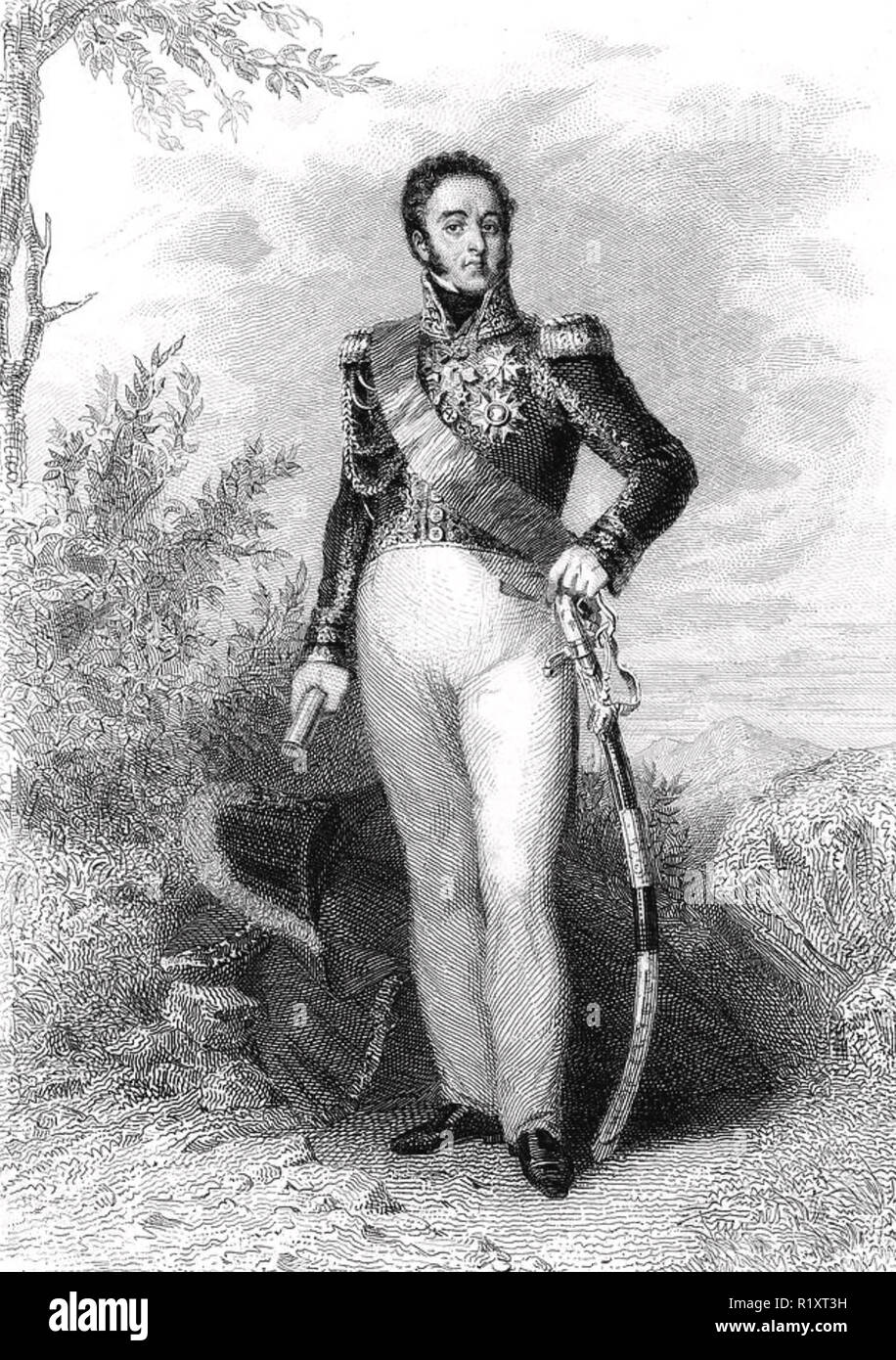 LOUIS-GABRIEL SUCHET (1770-1826) French Marshal - Stock Image