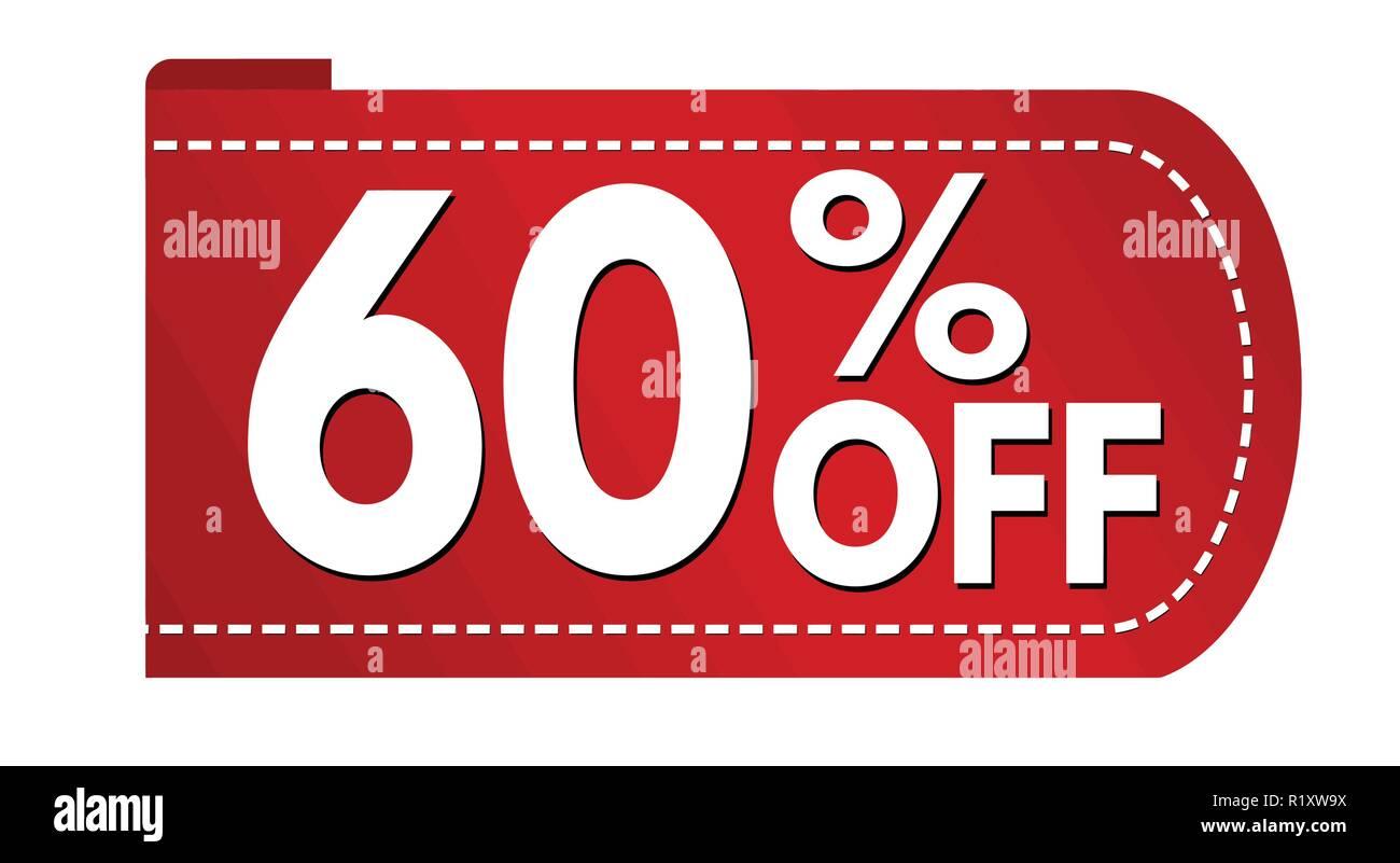 3ef5946ca Special offer 60 % off banner design on white background