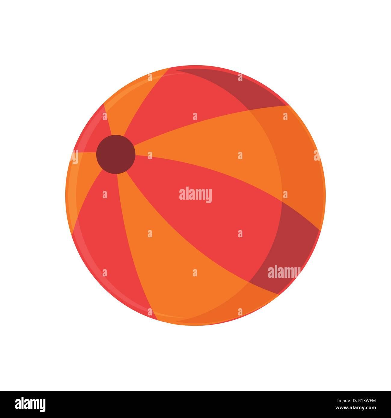 summer orange beach ball stuff icon vector illustration graphic