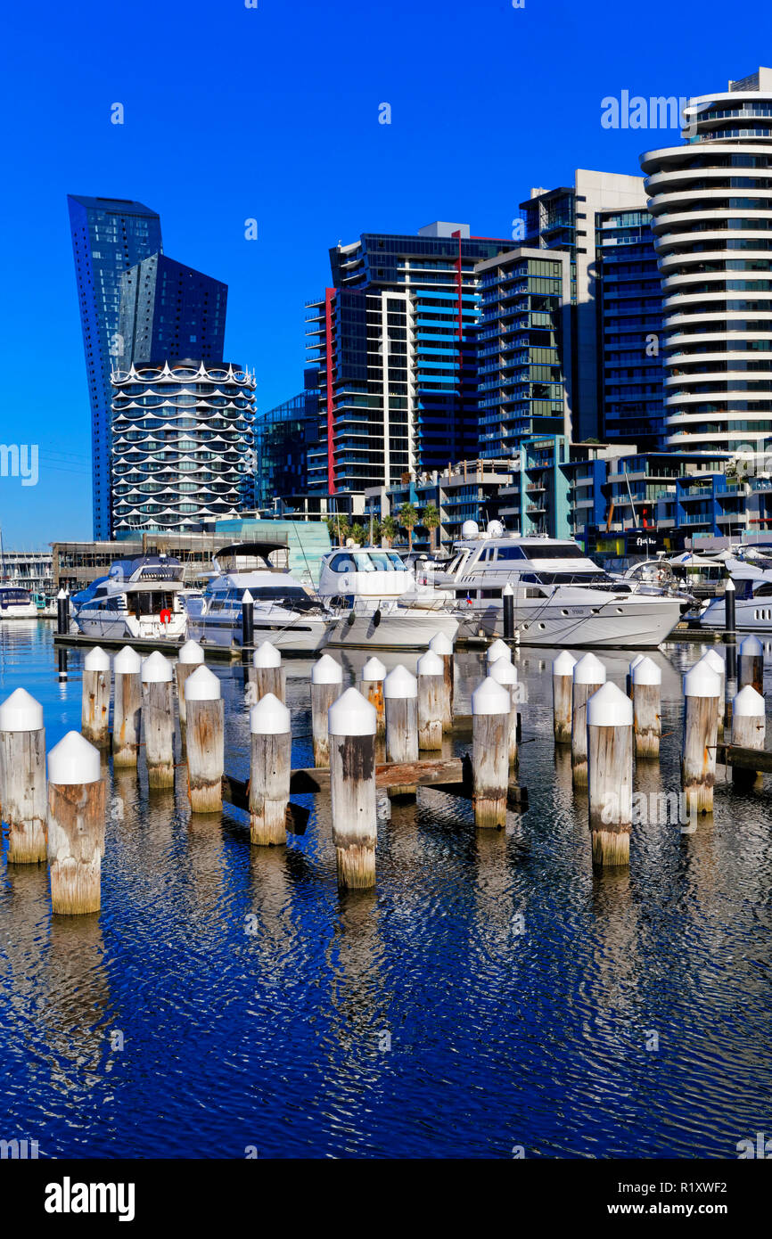 Waterfront City, New Quay, Melbourne Docklands, Marina, Australia - Stock Image