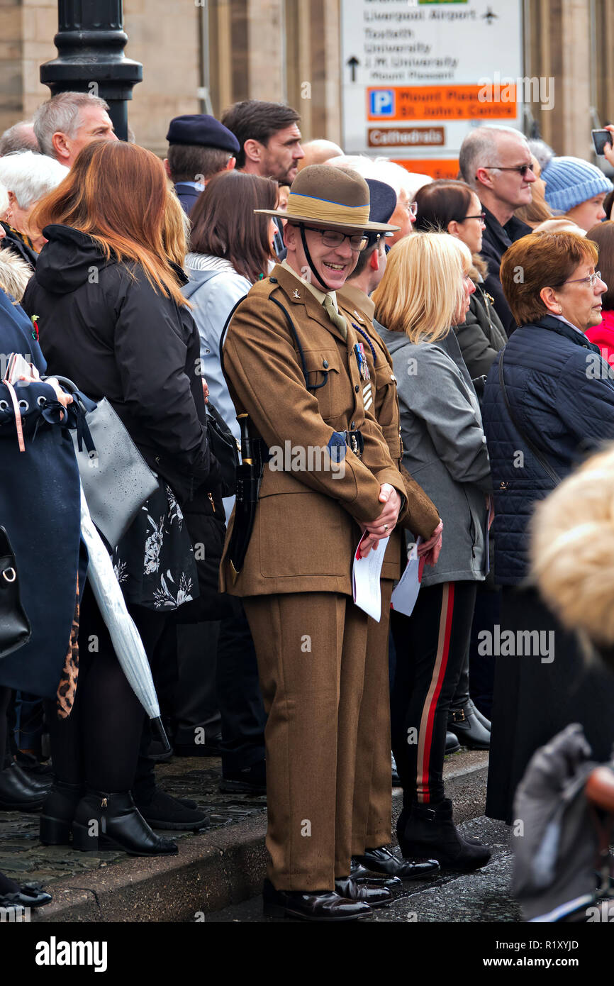 The Annual Service of Remembrance and Dedication at St Georges Hall Liverpool on Sunday 11th November 2018. - Stock Image