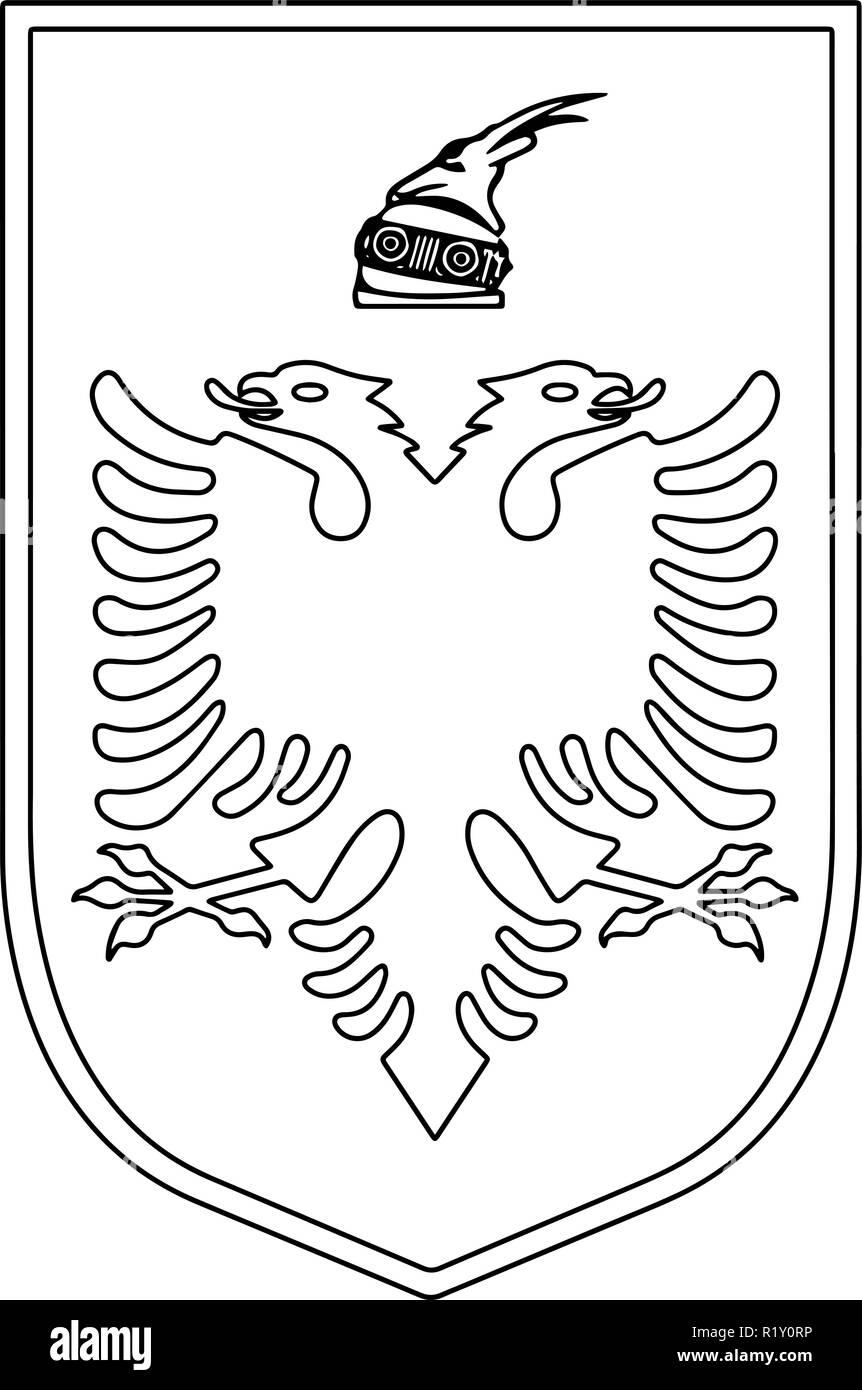 Albania passport emblem - Stock Vector