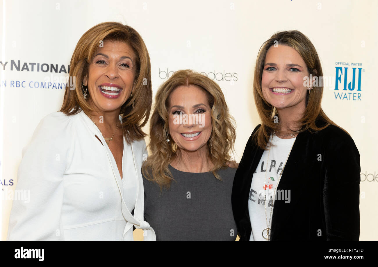 New York, USA - November 14, 2018: Hoda Kotb, Kathie Lee Gifford and