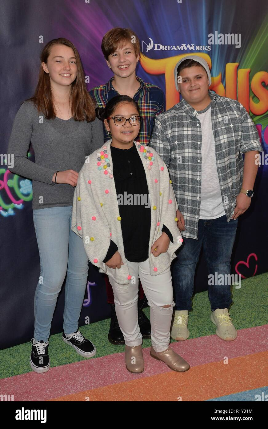 New York, NY, USA. 14th Nov, 2018. Top Chef Jr Photo Call for DREAMWORKS TROLLS THE EXPERIENCE, 218 West 57th Street, New York, NY November 14, 2018. Credit: Kristin Callahan/Everett Collection/Alamy Live News - Stock Image