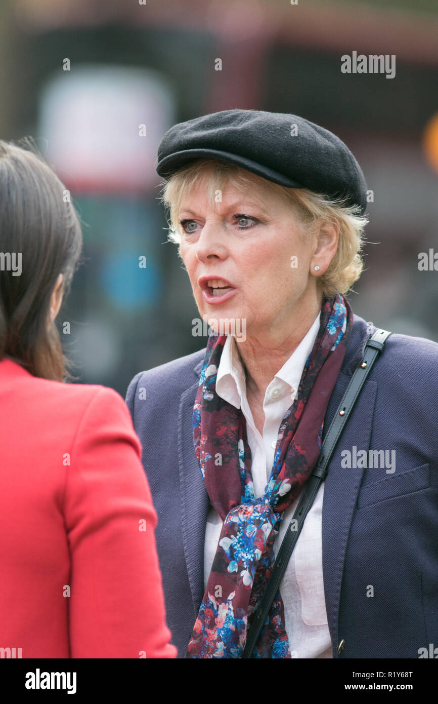 London UK 15th November 2018 Conservative MP Abd Remainer Gives Her Reaction To The Media Folloewing Brexit Draft Agreement By Prime Minister Theresa