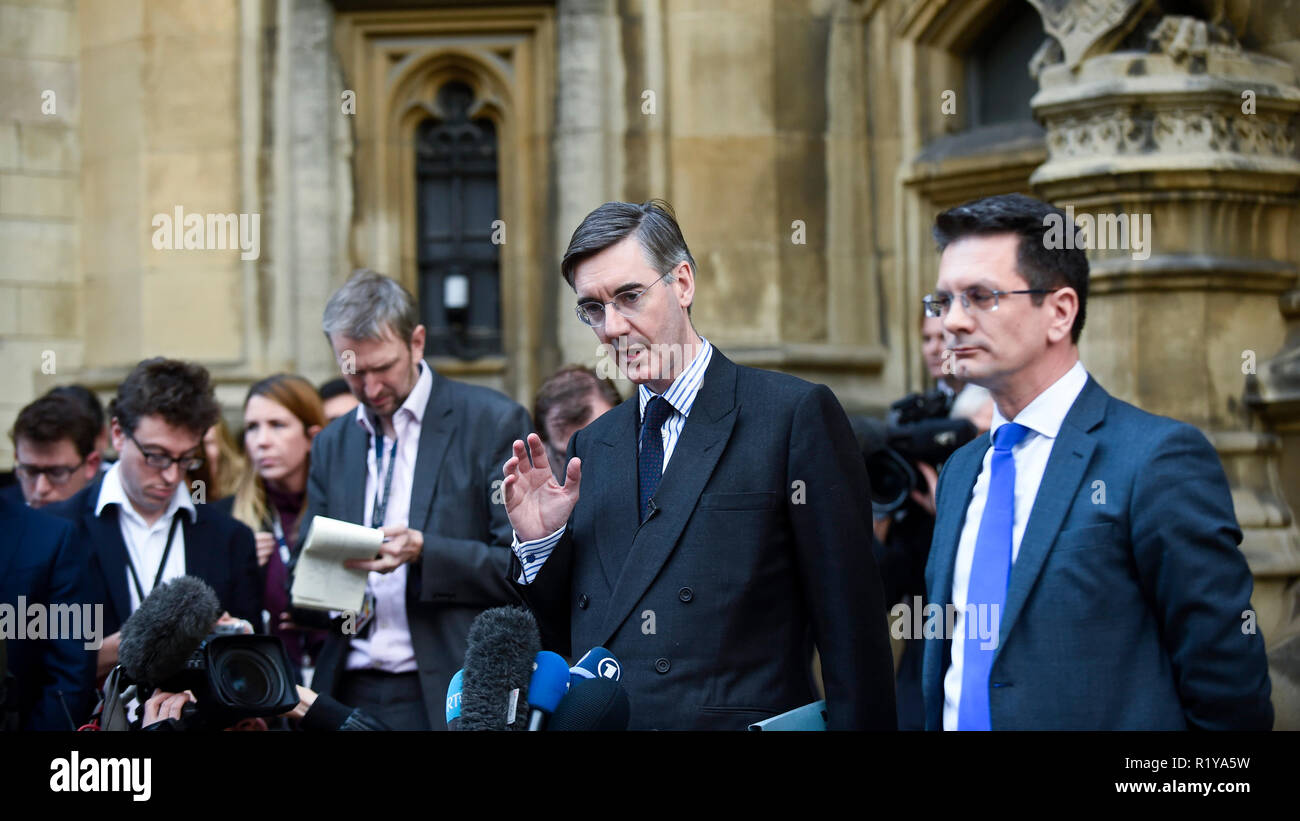 London, UK  15 November 2018  Jacob Rees-Mogg MP for Norrth
