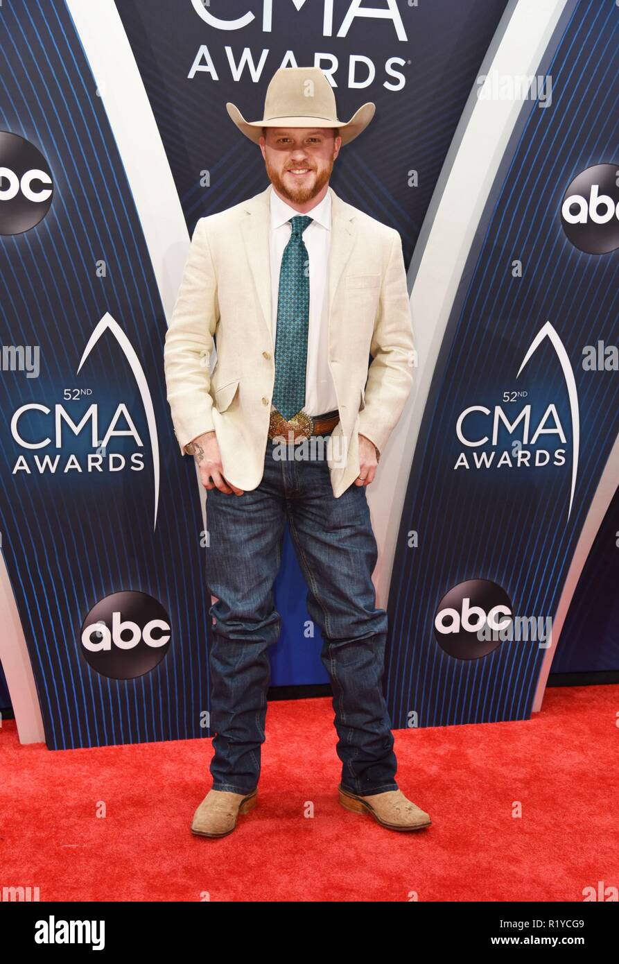 45ee0daf2c0 Cody Johnson at arrivals for The 52nd Annual CMA Awards - Arrivals