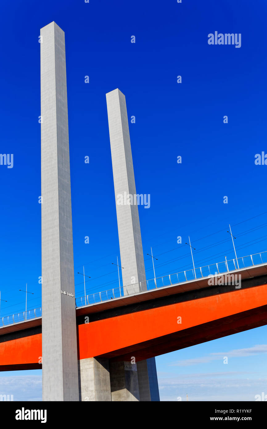 Bolte Bridge, Docklands, Melbourne, Australia - Stock Image
