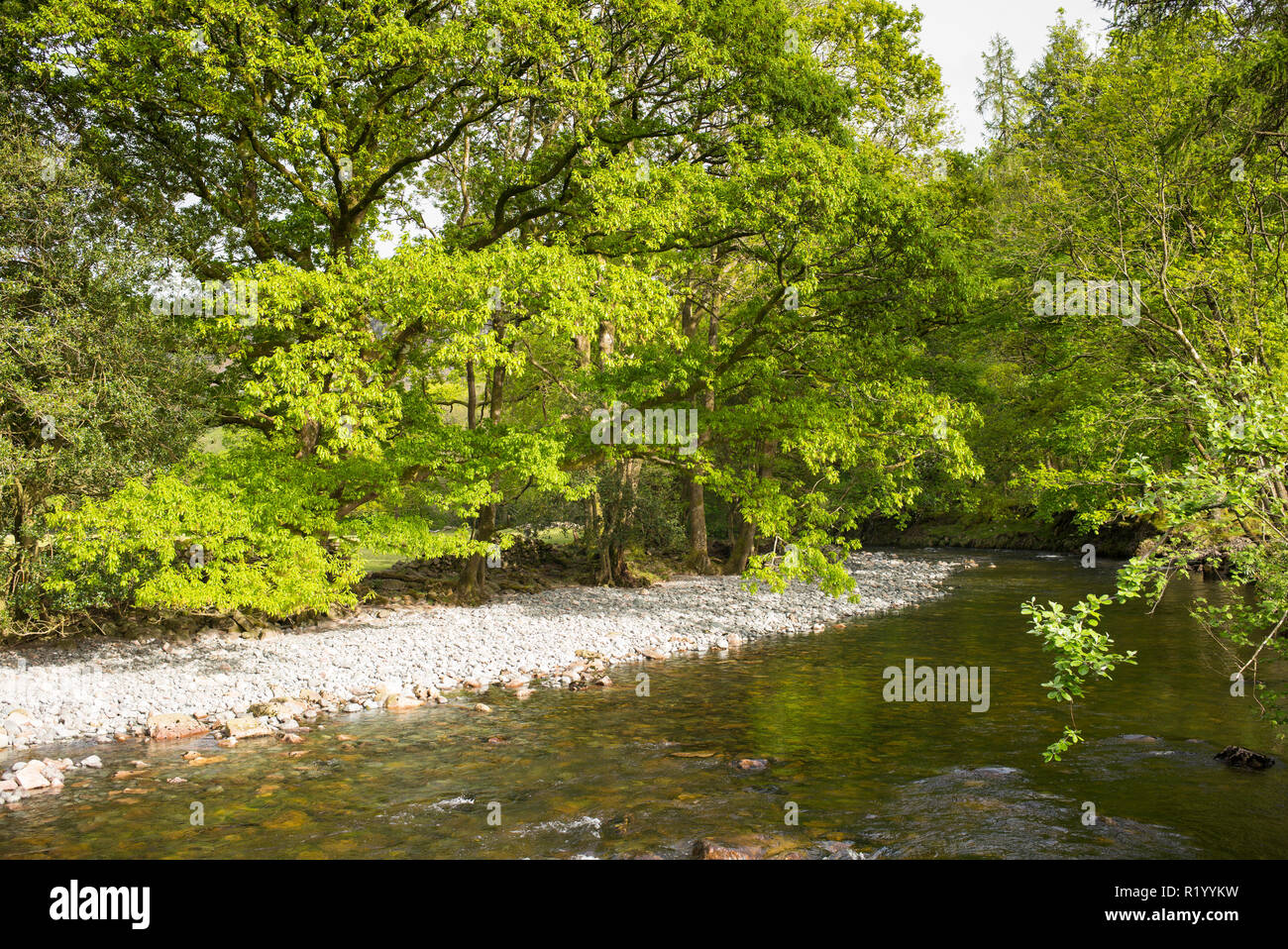 River Esk at Eskdale in the Lake District, Cumbria, England - Stock Image