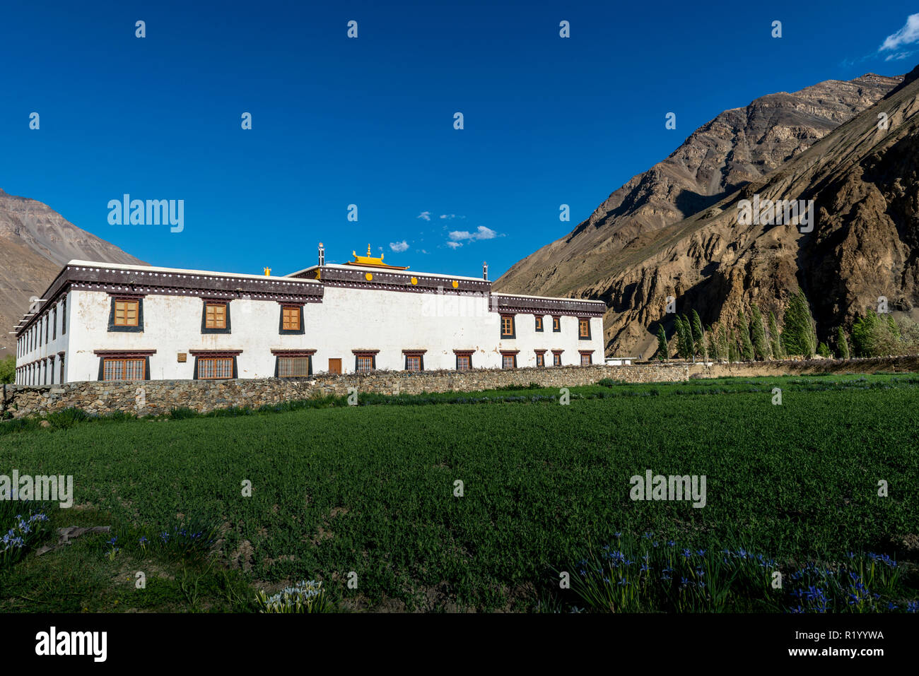 The newly constructed Tabo Monastery, now used for religeous ceremonies - Stock Image