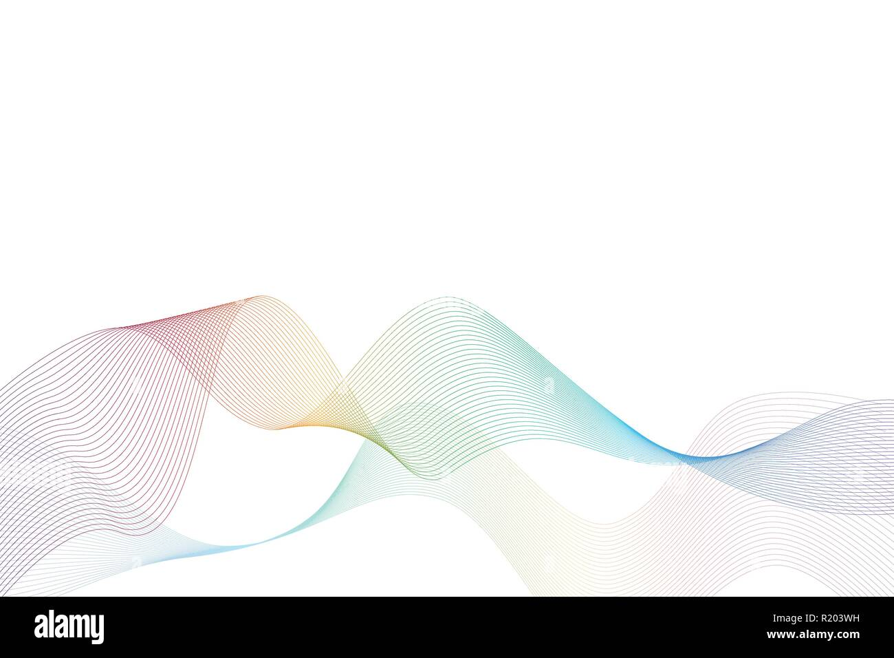 abstract background waves in rainbow colors vector illustration EPS10 Stock Vector
