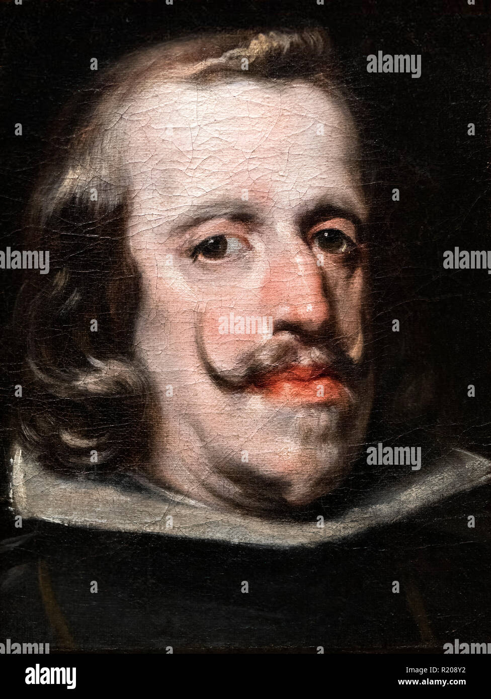 King Philip IV of Spain by circle of Diego Velazquez, oil on canvas, c.1655 - Stock Image