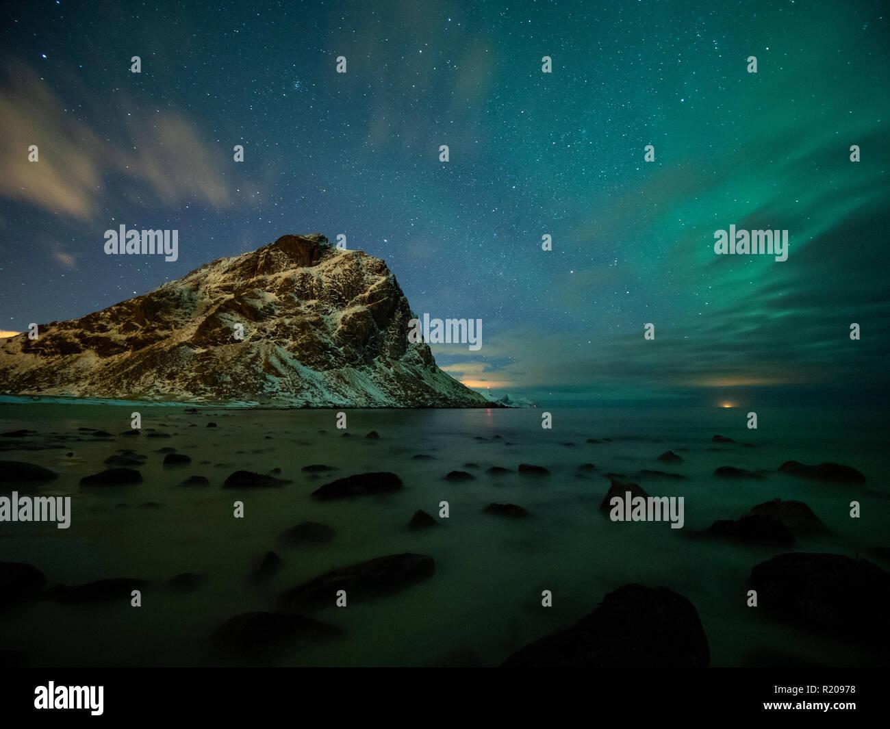 Lofoten islands in winter - Stock Image