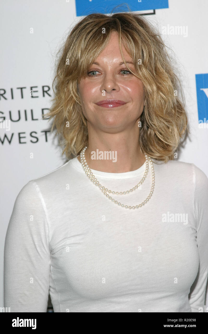 Meg Ryan   02/19/05 57TH ANNUAL WRITERS GUILD AWARDS @ Hollywood Palladium, Hollywood Photo by Izumi Hasegawa/HNW / PictureLux  (February 19, 2005) - Stock Image