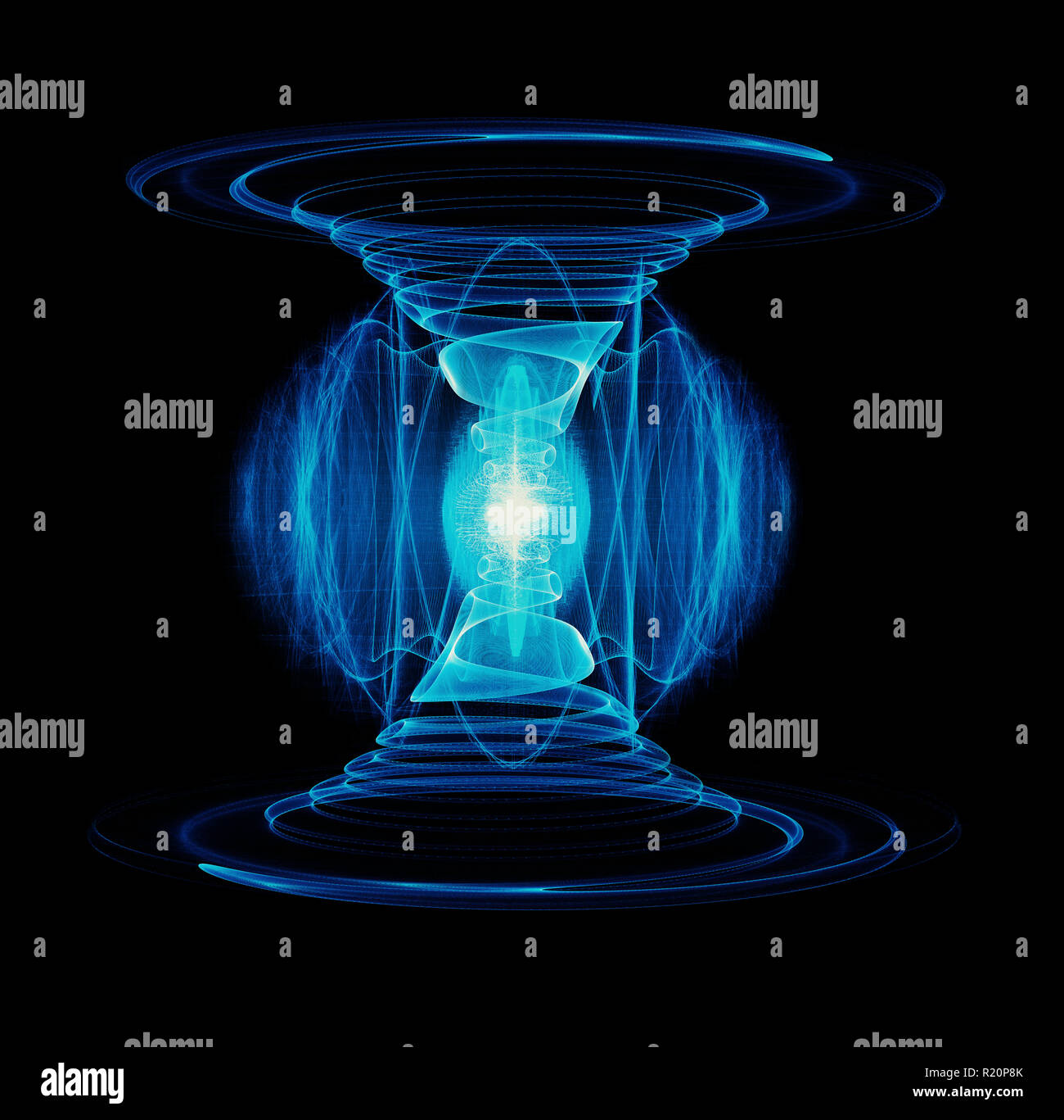 Tesla Coil Stock Photos Images Alamy Free Electricity Plasma Flow Through A Double Spiral Wire Producing High Energy Particle Discharge And