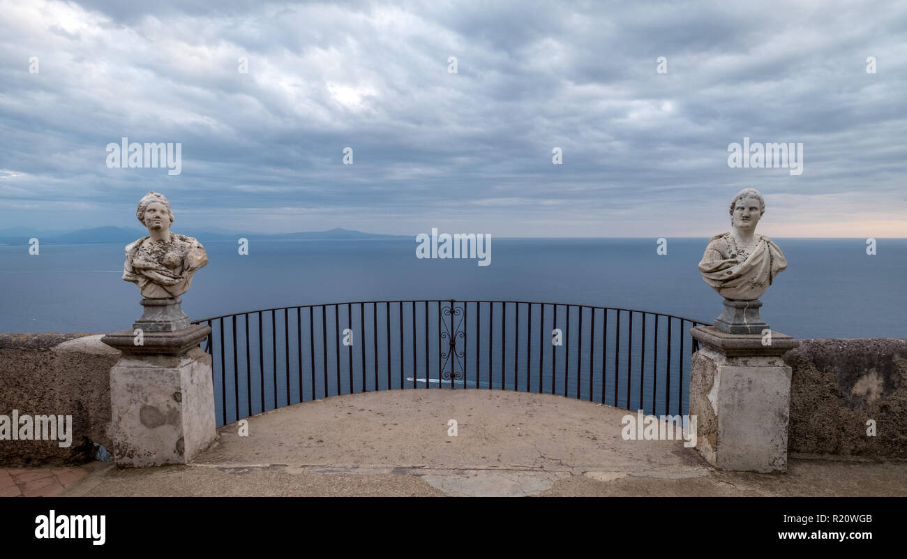 Famous Statues With View Of The Mediterranean Sea On The
