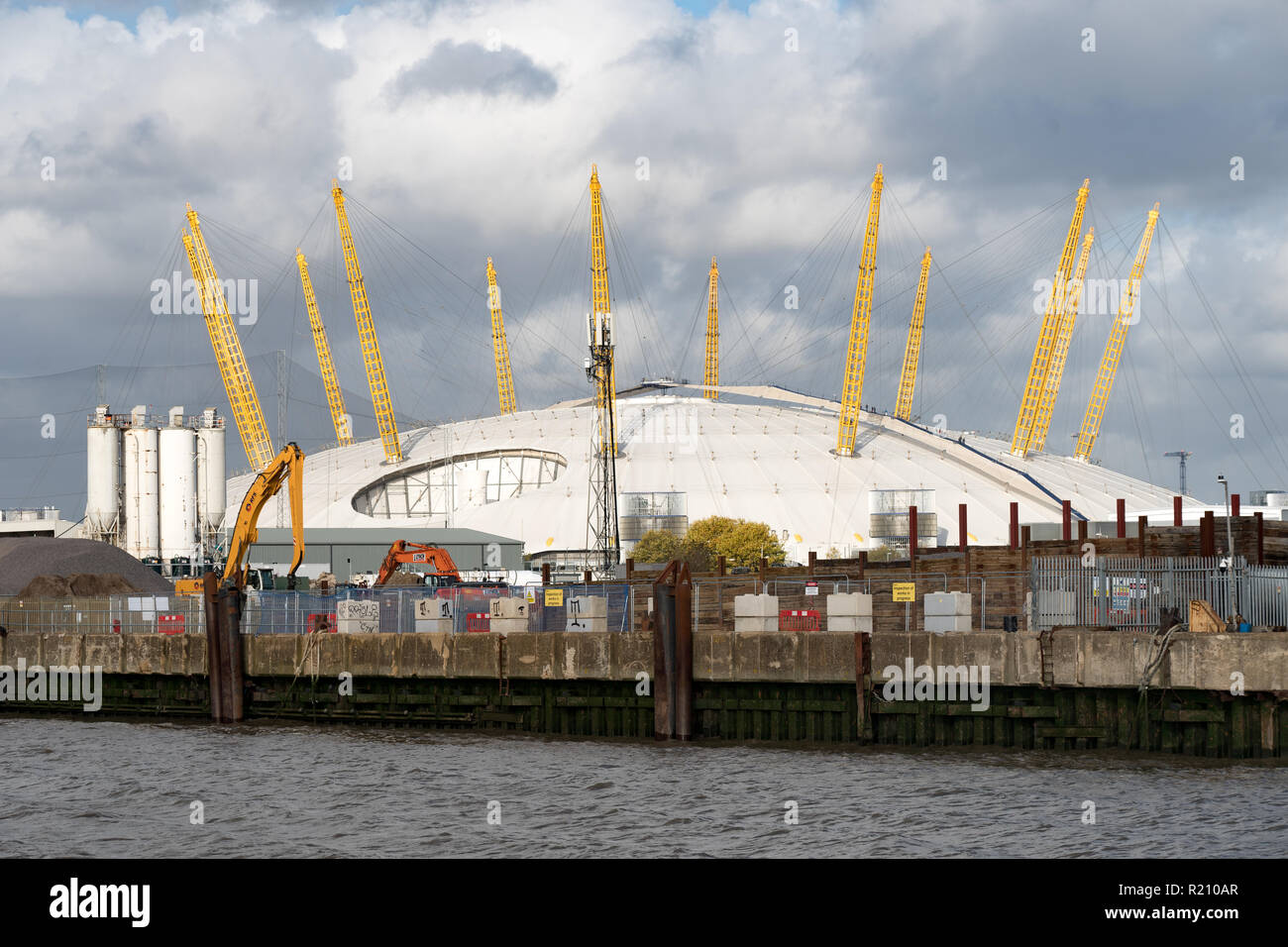 The O2 Arena. From the Open City Thames Architecture Tour East. Photo date: Saturday, November 10, 2018. Photo: Roger Garfield/Alamy Stock Photo