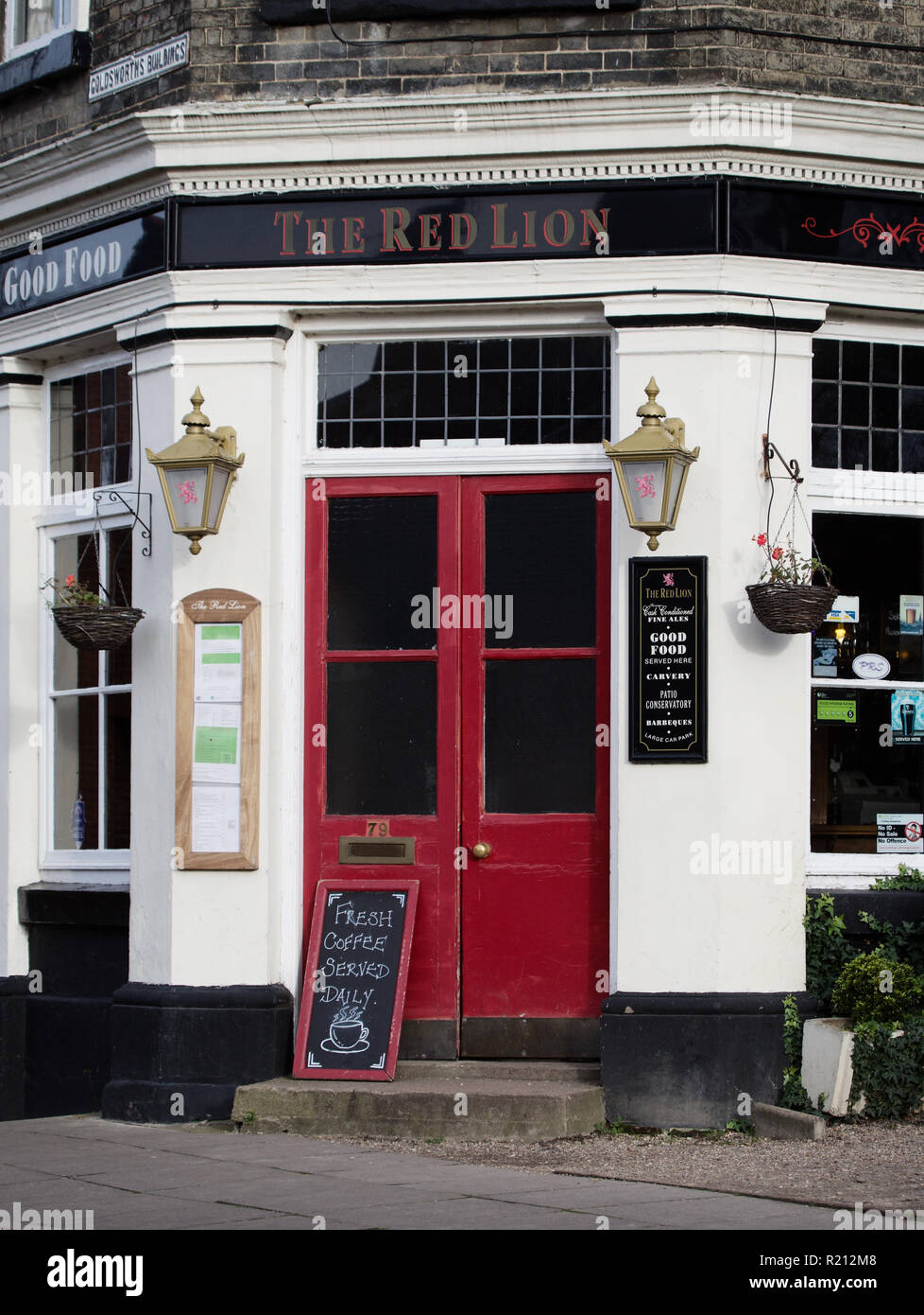 The Red Lion Pub Norwich - Stock Image