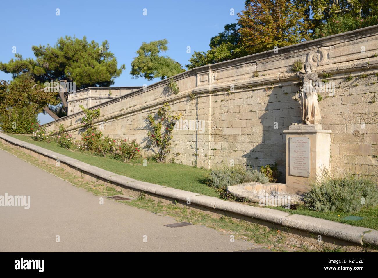 Rocher des Doms Park & Public Garden or Gardens Avignon Provence France - Stock Image
