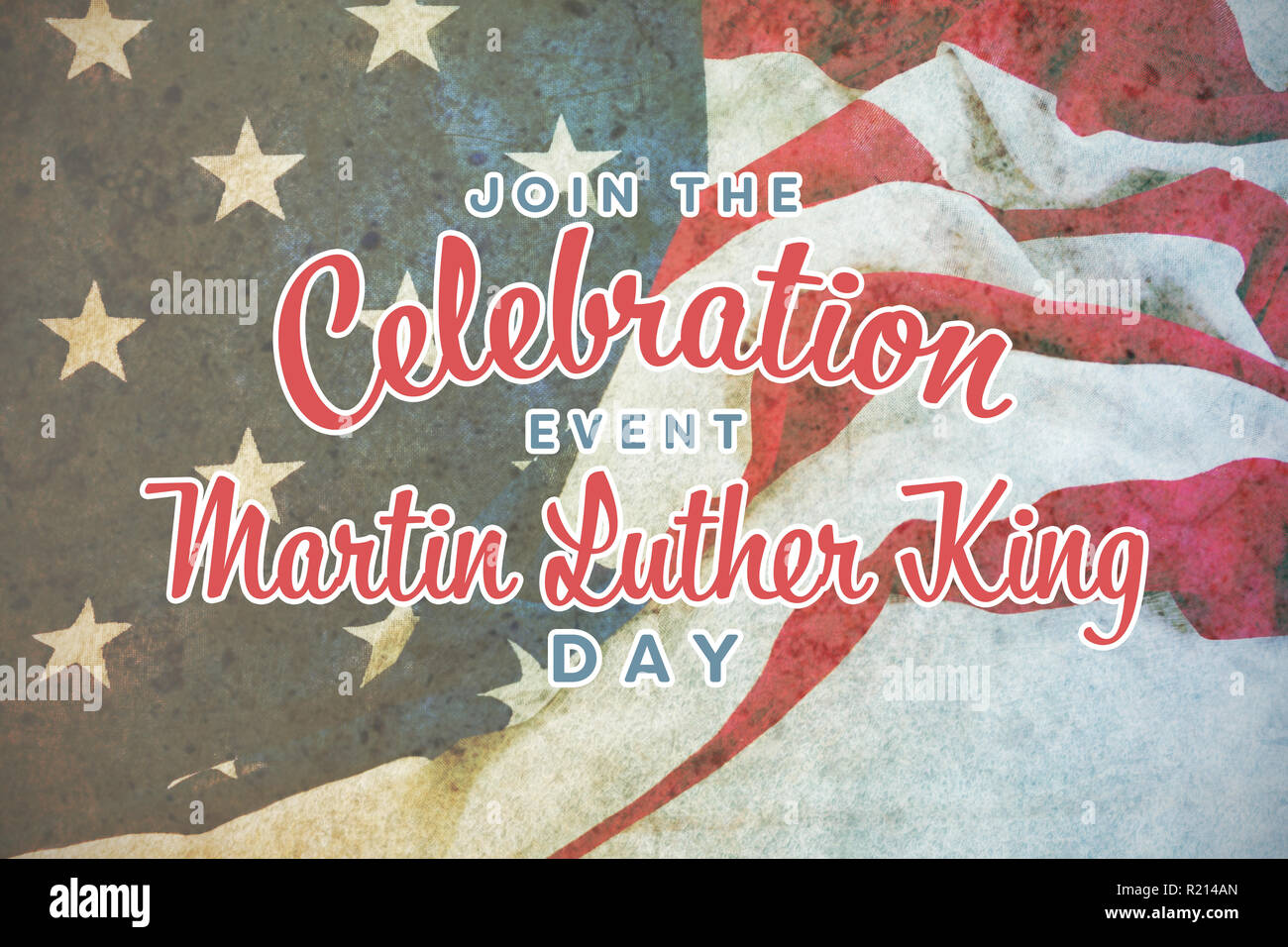Composite image of join the celebration event martin luther king day - Stock Image