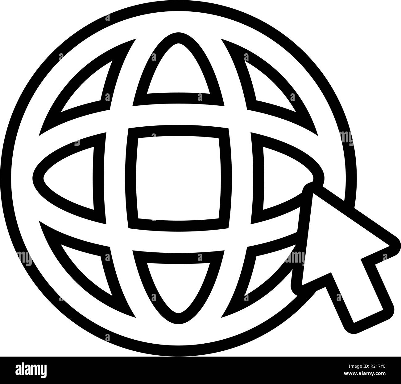 sphere planet browser icon vector illustration design - Stock Image