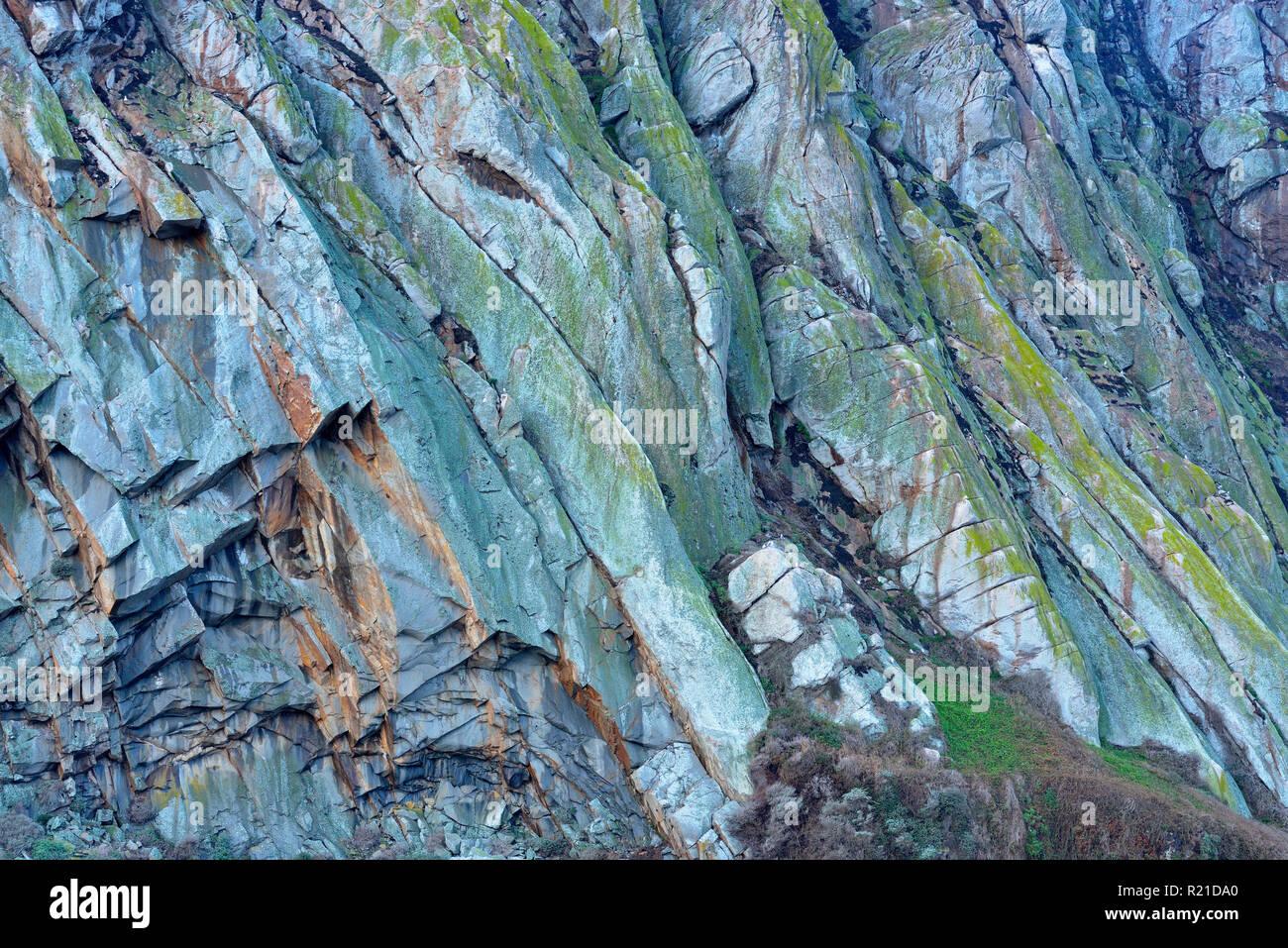 Morro Rock, Morro Bay, California, USA - Stock Image