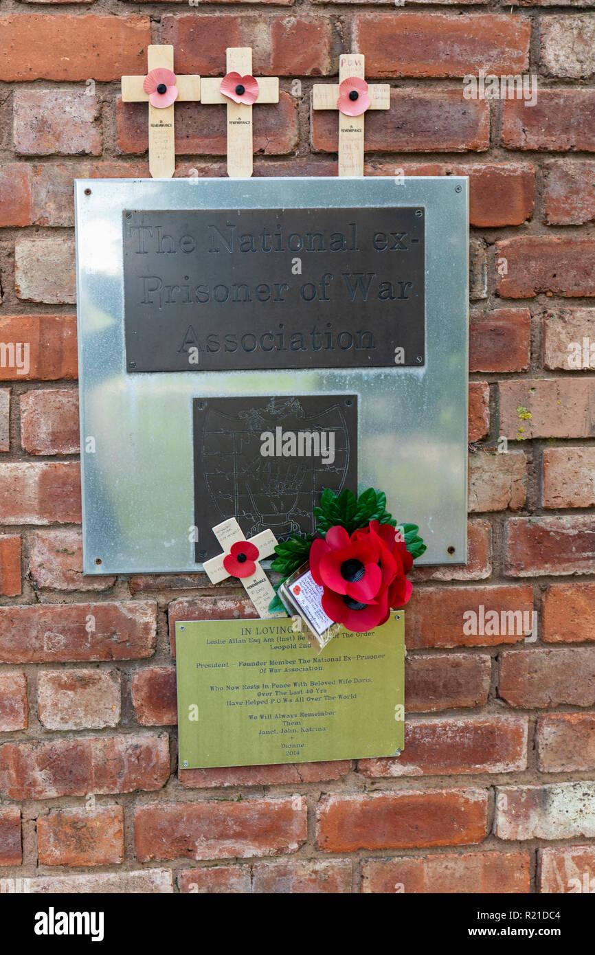 The National Ex-Prisoner of War Association Memorial, The National Memorial Arboretum, Airewas, Staffordshire, UK - Stock Image